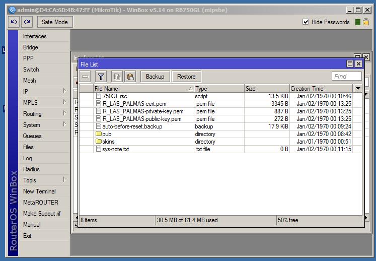 Openvpn y Mikrotik | Copia de certificados.