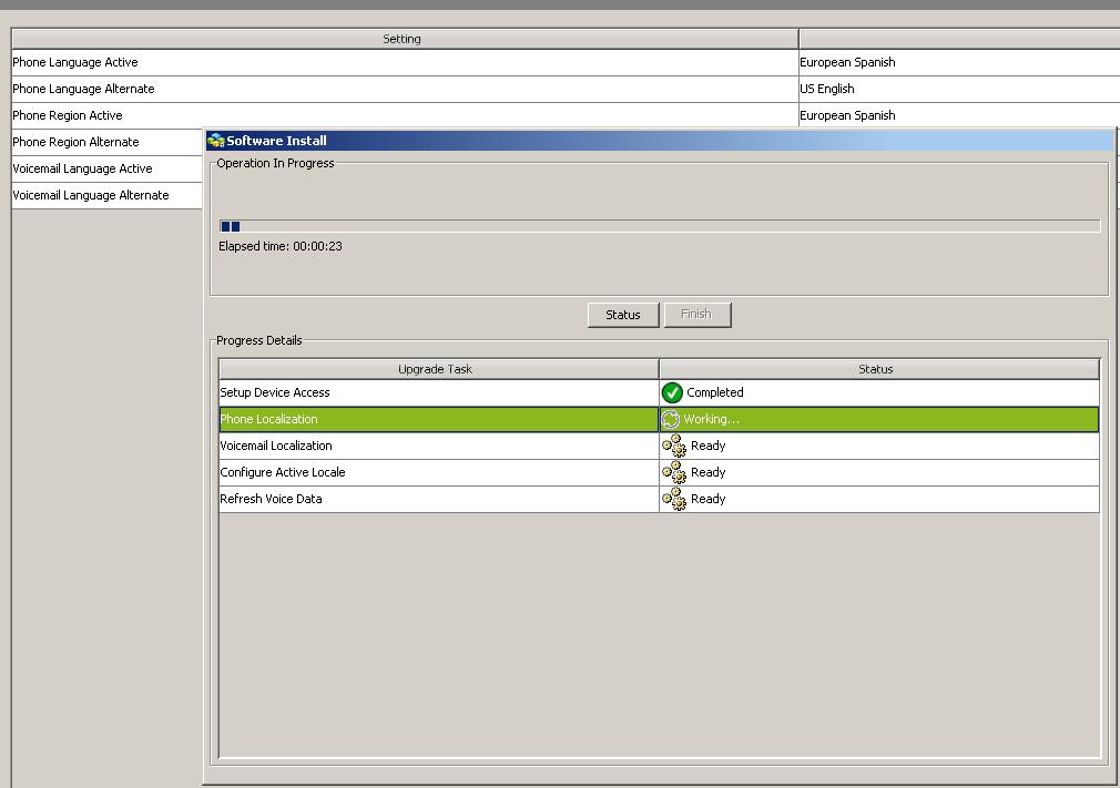 Proceso instalación paquete idiomas uc560