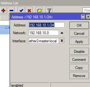 Interface LAN Mikrotik ipsec VPN