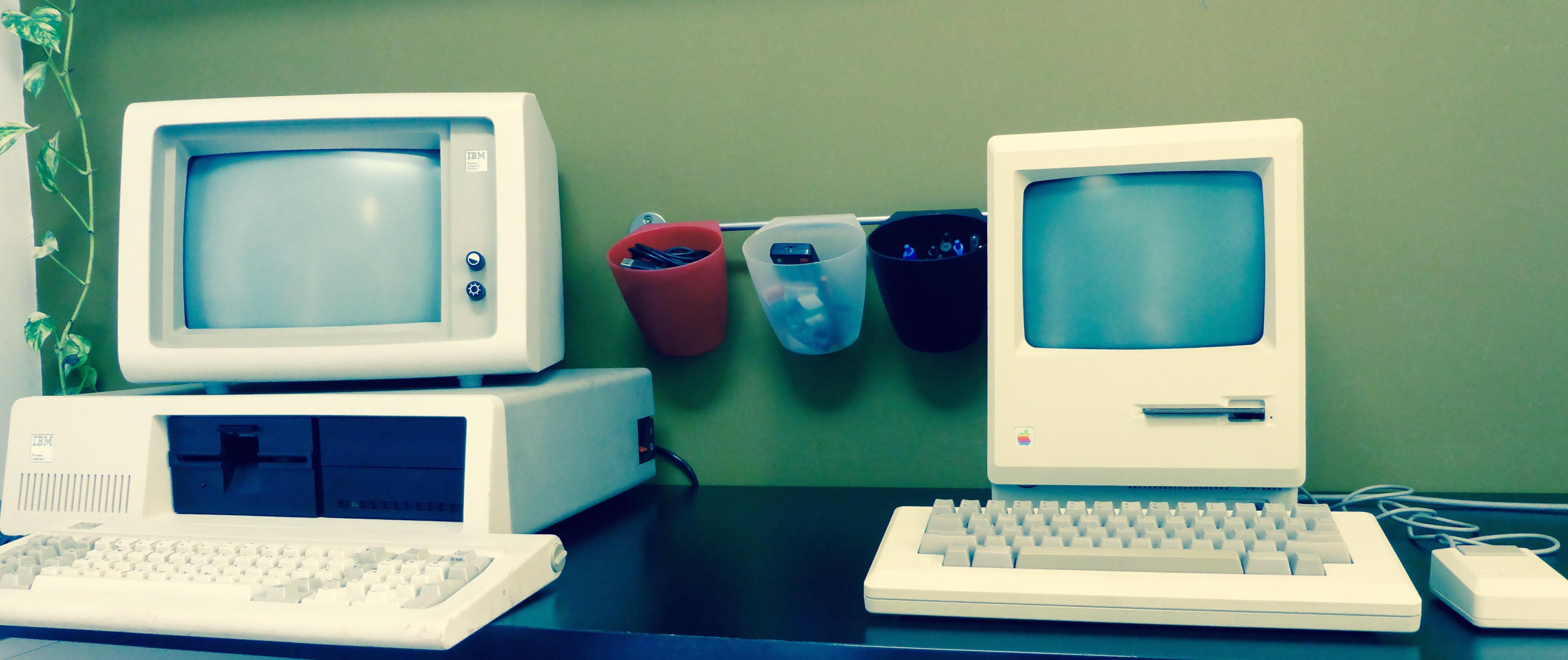 IBM 5150 vs Macintosh 128k